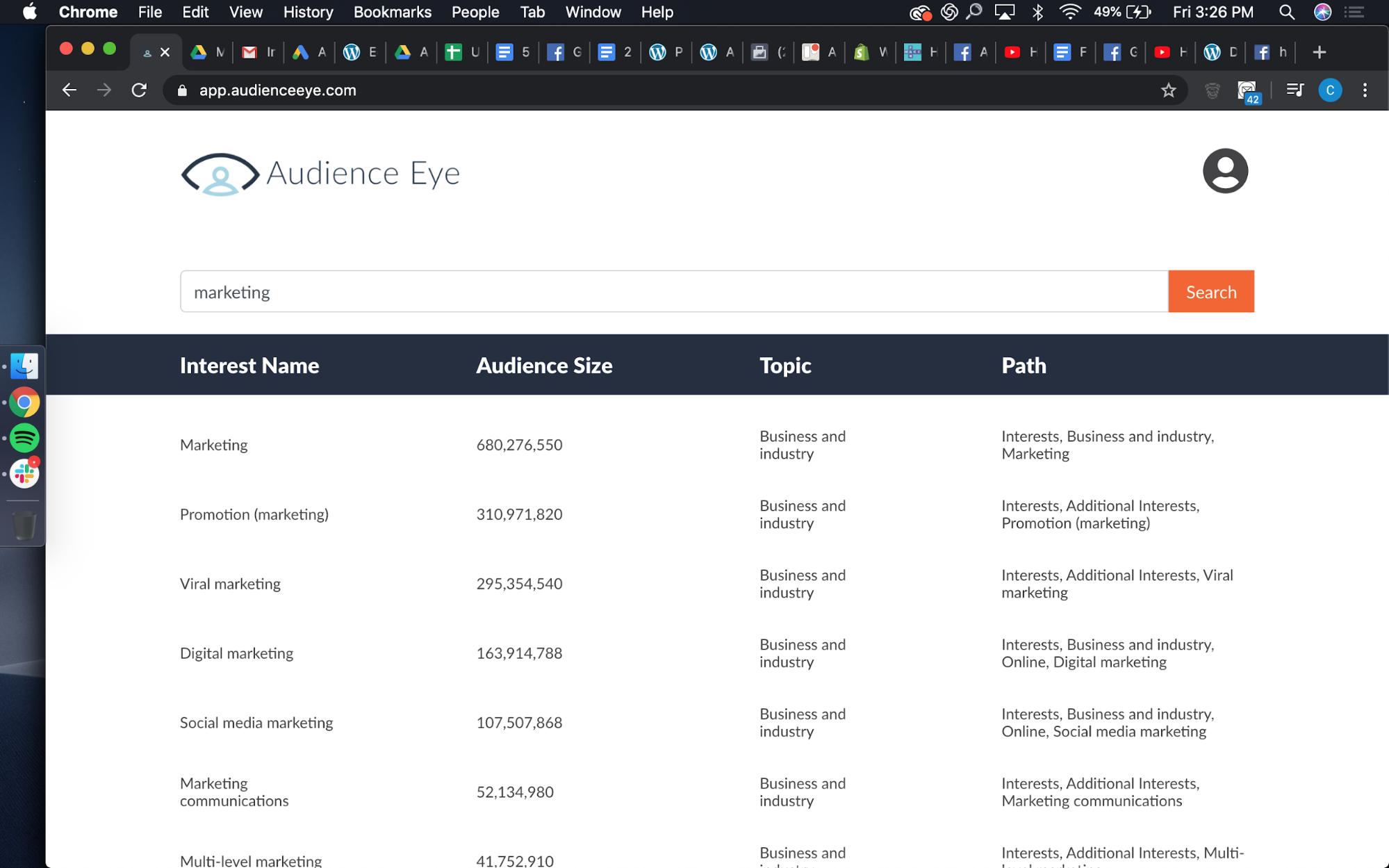 Facebook Hidden Interests audience eye 1